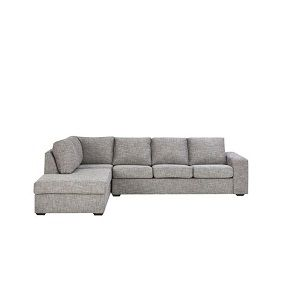 Corner Sofa Set Ash Color Five Seater Solid Wood Furniture