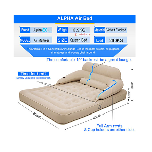 Alpha Velvet Flocked Air Bed