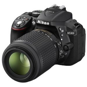 Nikon D5300 DSLR 24.2 MP Builtin Wi Fi With 18 55mm Lens
