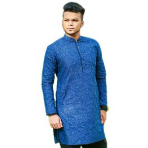 BLUE COTTON CASUAL PANJABI