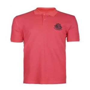 RED CASUAL SHORT SLEEVE POLO SHIRT