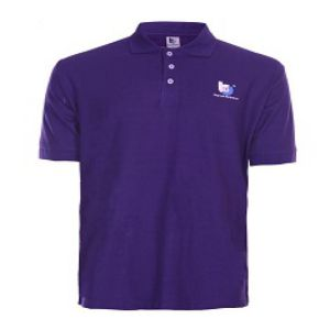 PURPLE COTTON CASUAL SHORT SLEEVE POLO