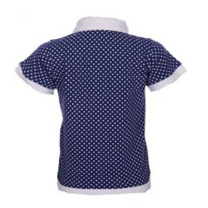 NAVY COTTON SHORT SLEEVE POLO
