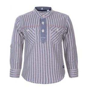 GREY BOYS LINEN LONG SLEEVE SHIRT