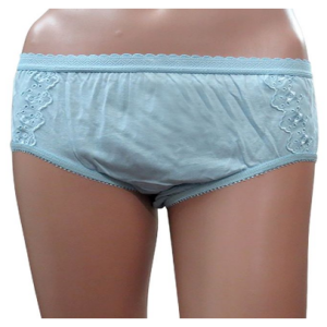 Shotorong Flower Printed Cotton Panty : Sky Blue