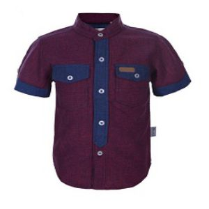RED BOYS COTTON SHORT SLEEVE SHIRT