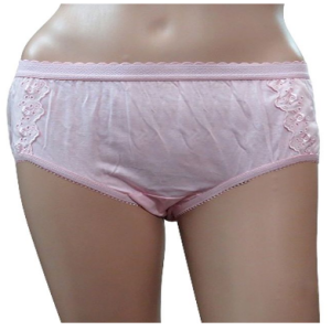 Shotorong Flower Printed Cotton Panty : Pink