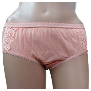 Shotorong Flower Printed Cotton Panty : Cream