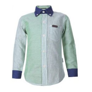 BOYS LINEN LONG SLEEVE SHIRT