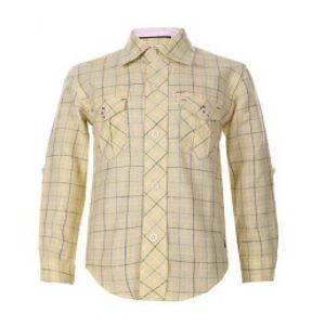 YELLOW BOYS LINEN LONG SLEEVE SHIRT