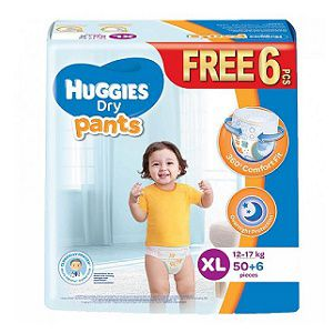 12 to 17 Kg Huggies  Dry Pant 44 pcs