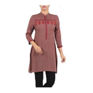 Embroidered Ethnic Frock CHOCOLET