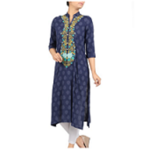 Embroidered Ethnic Frock NAVY