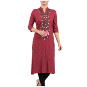 Embroidered Ethnic Frock MAROON