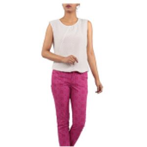 Womens Trouser PINK PRINTED