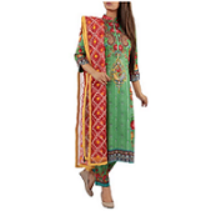 Ornamental Flower GREEN | Salwar kameez