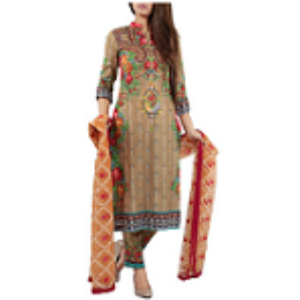 Ornamental Flower BROWN | Salwar kameez