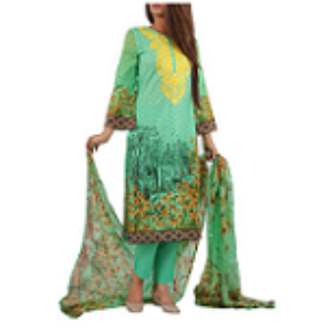 Sunflower Garden GREEN | Salwar kameez