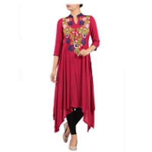 Embroidered Ethnic Top MAROON