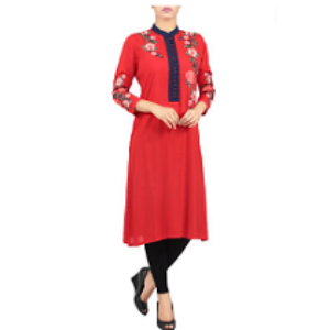 Womens Ethnic BIKING RED