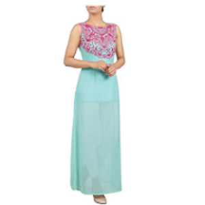 Women LONG DRESS TERQUISE