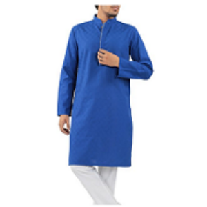 CONTRAST DETAILED PANJABI DARK BLUE