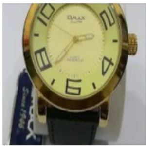 OMAX Brand Leather Strap Watch