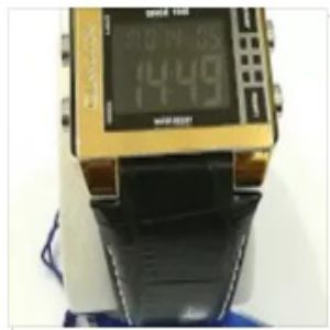 OMAX Leather Strap Watch