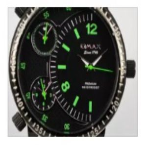 Omax Mens Leather Strap Watch