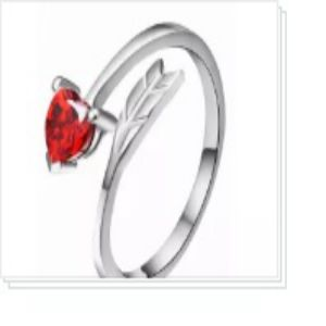 Red Love Finger Ring
