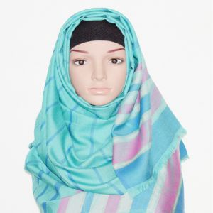 Blue Stripe Silk Hijab Price BD | Blue Stripe Silk Hijab