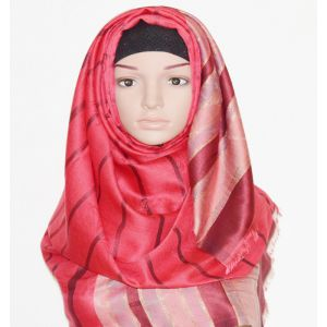 Womens Red Silk Hijab Price BD | Womens Red Silk Hijab