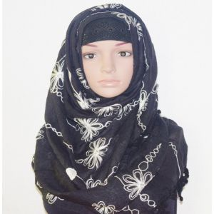 Black Cotton Hijab Price BD | Black Cotton Hijab