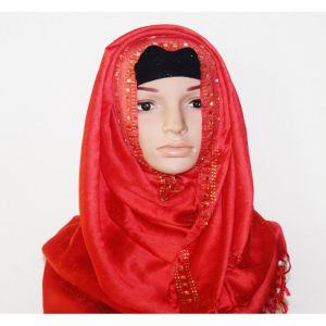 Red Silk Hijab Price BD | Silk Hijab
