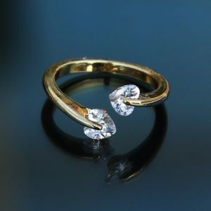 Finger Ring Price BD | Golden Rose Finger Ring