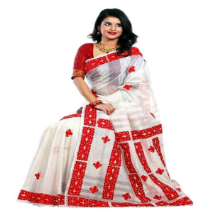 Red And White Silk Saree Price BD | Silk Saree