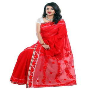 Red Cotton Saree Price BD | Red Cotton Saree