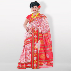 Hurrah Cotton Saree Price BD | Skin Print Saree
