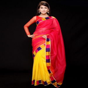Silk Saree Price BD | Red And Yellow Silk Saree