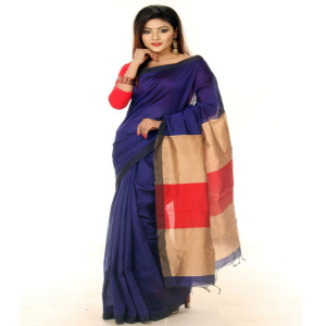 Blue Tosor Silk Saree Price BD | Blue Tosor Silk Saree