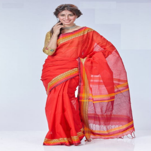 Red Tant Cotton Saree Price BD | Red Tant Cotton Saree