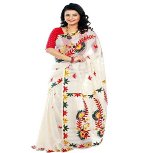 Silk Saree Price BD | Red And White Silk Saree