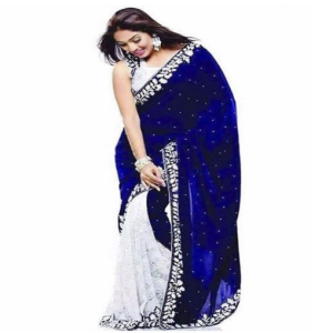Blue Georgette Saree Price BD | Blue Georgette Saree