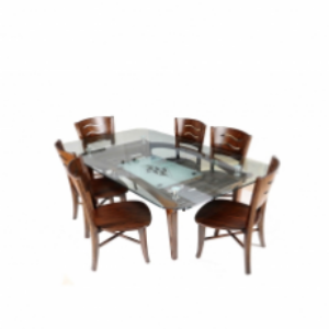DT139 Brothers Furniture Diamond Dining Table