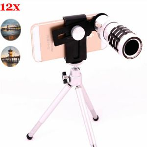 Universal 12X Zoom Telescope Mobile Phone Lens (QHHH)