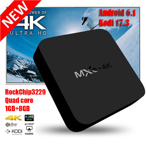 MXQ 4K Android 6.0 Quad Core Smart TV Box