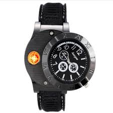 HUAYUE Watch Design Creative USB Electronic Cigarette Lighter,(2249911.)