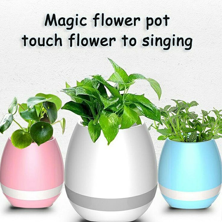 Smart flowerpot With Bluetooth Speaker,(2265199)