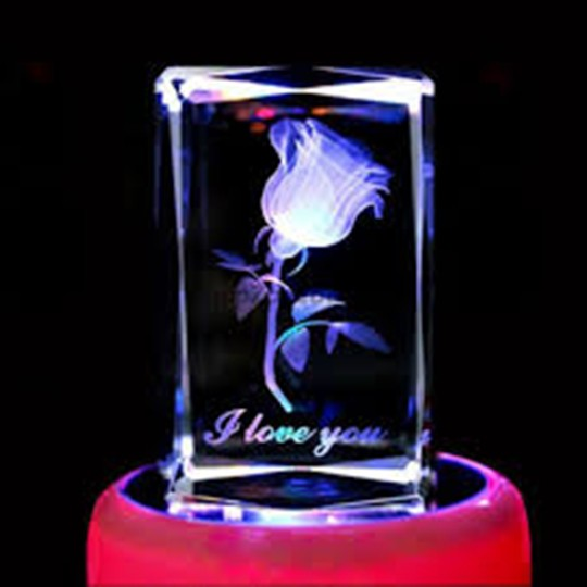 Crystal Rotating Music Box,(4469977)
