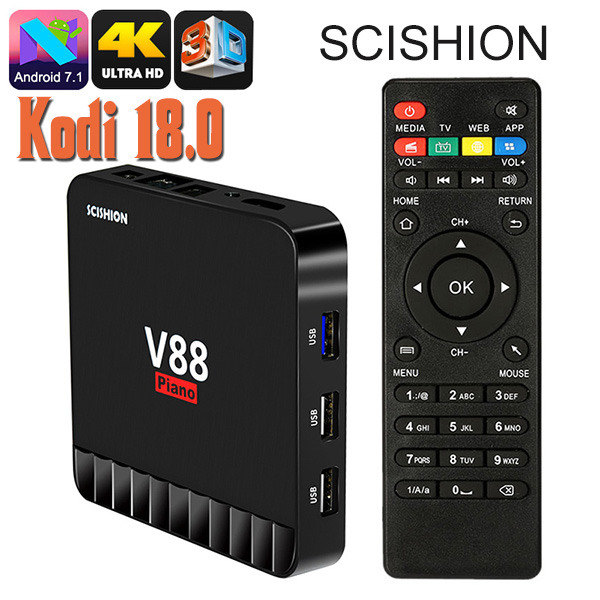 Scishion 4K 3D Piano Android TV Box